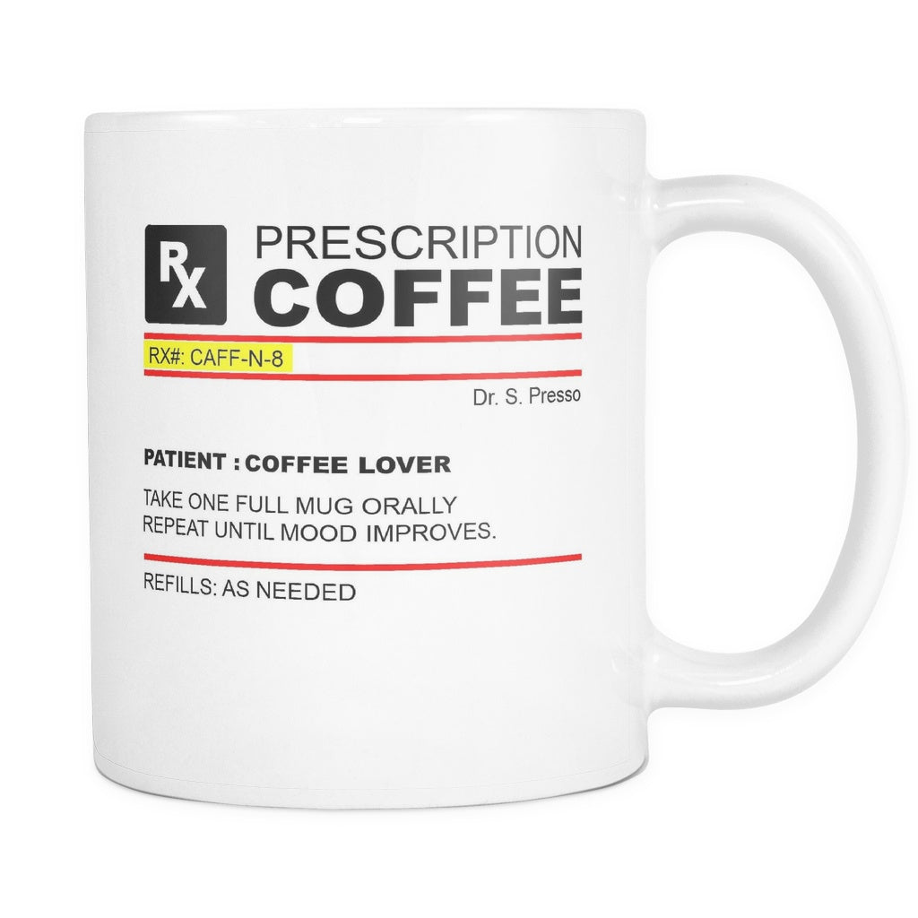 Prescription Coffee Mug, Drinkware, teelaunch, Viper Coffee