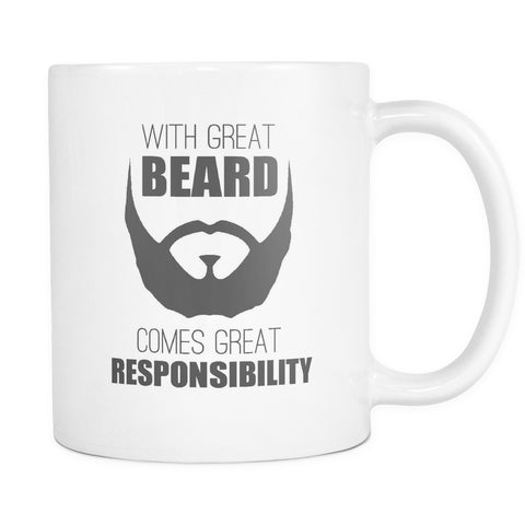 Drinkware - With Great Beard Comes Great Responsibility