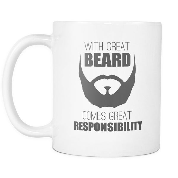 With Great Beard Comes Great Responsibility, Drinkware, teelaunch, Viper Coffee