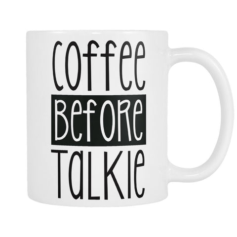 Coffee Before Talkie Mug, Drinkwear, teelaunch, Viper Coffee