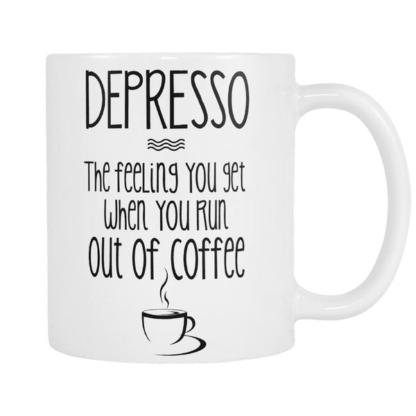 Drinkwear - FREE Depresso Coffee Mug - Just Pay Shipping