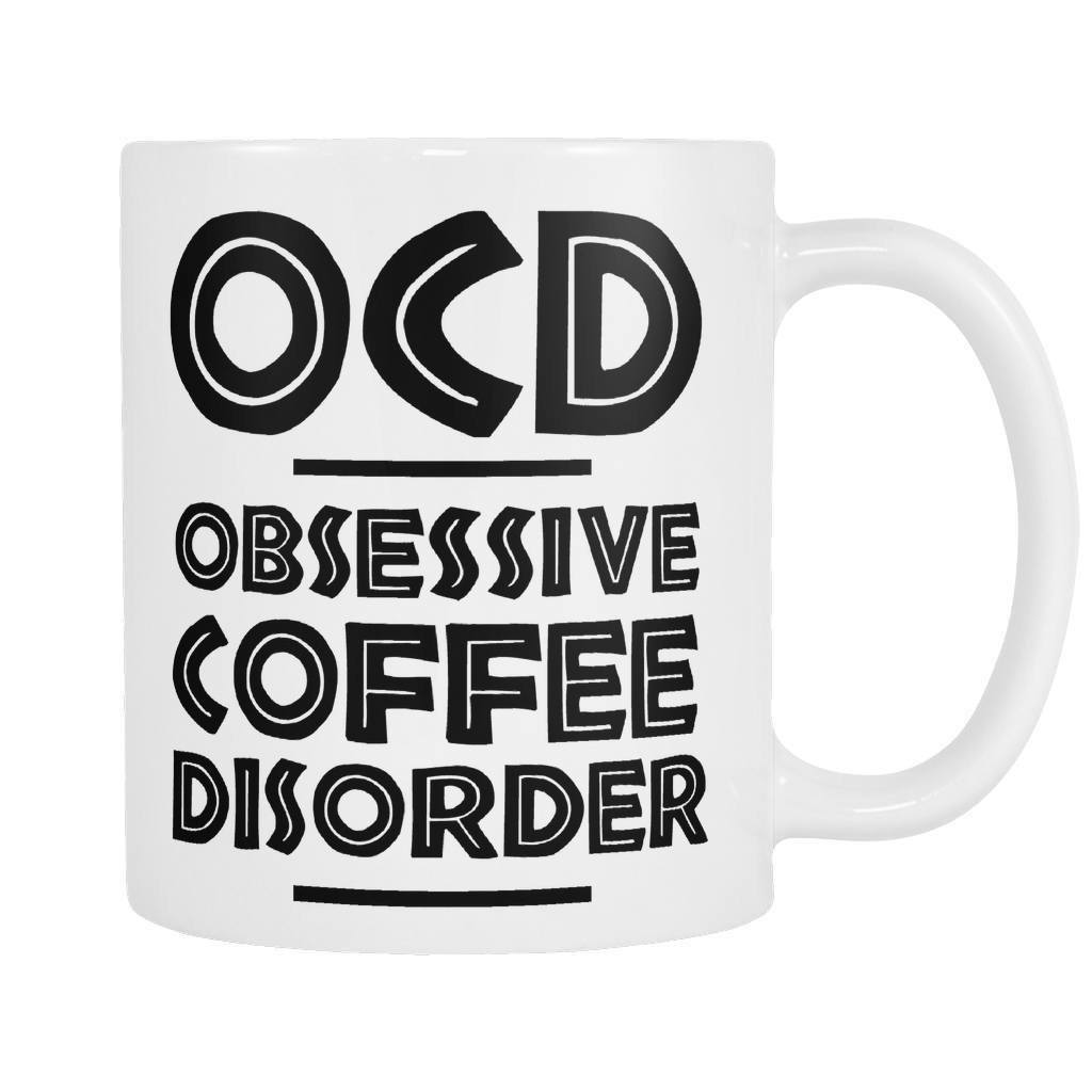 OCD Coffee Mug, Drinkwear, teelaunch, Viper Coffee