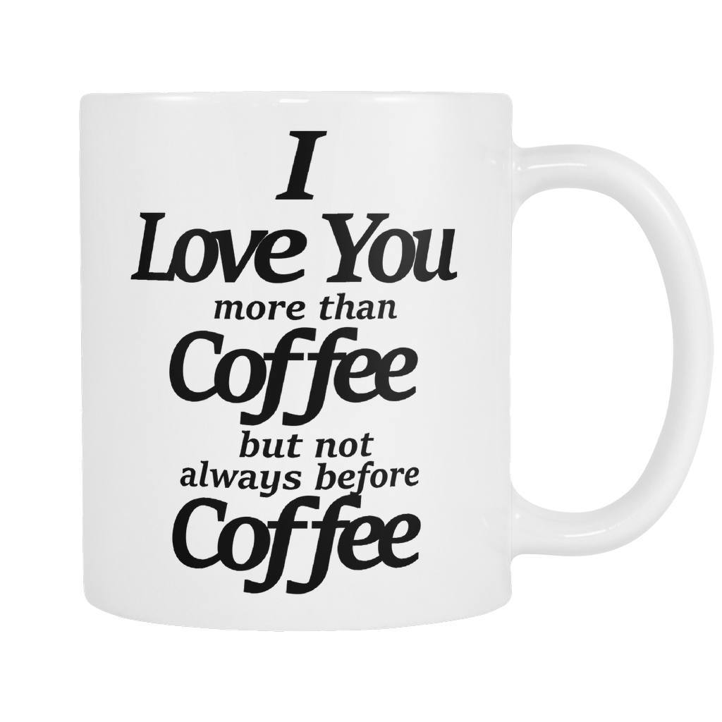 I Love You - Coffee Mug, Drinkwear, teelaunch, Viper Coffee