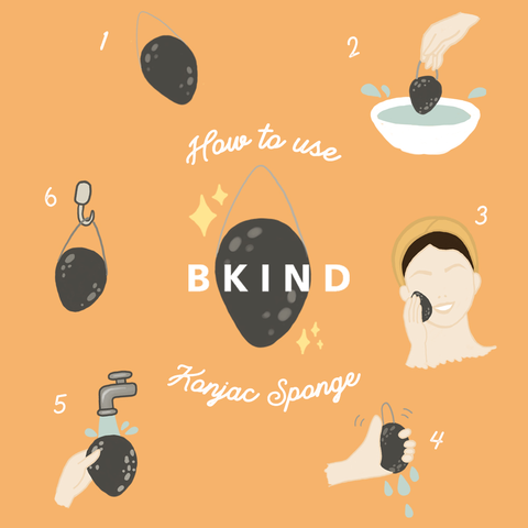 how to use a konjac sponge bkind