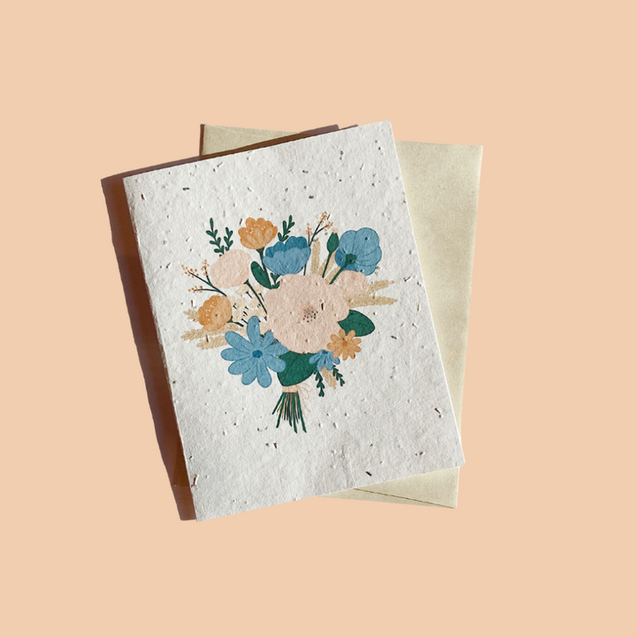 Plantable card - Bouquet