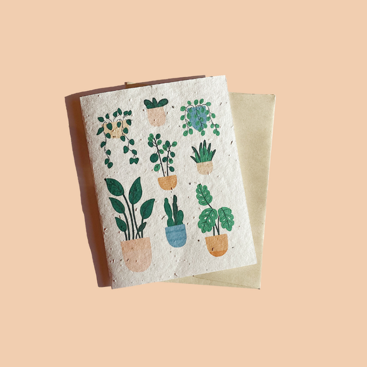 Plantable card - House Plants