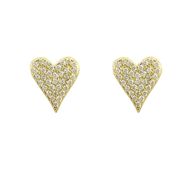 Caleb heart stud earrings