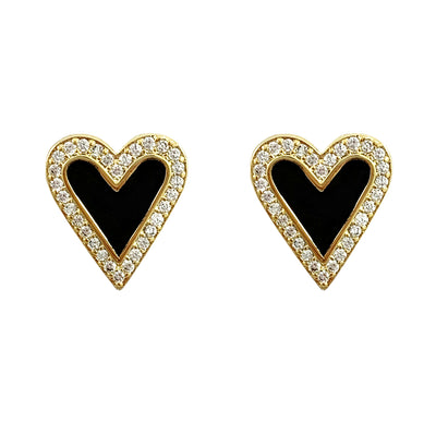 Davina heart stud earrings