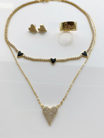 Caleb heart necklace