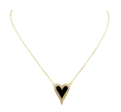 Davina enamel heart necklace