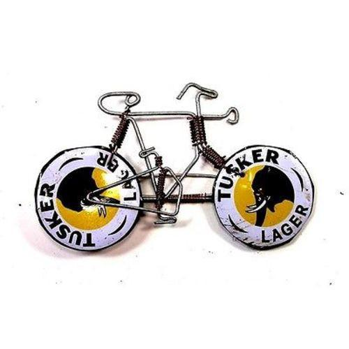 Wire Bicycle Pin with Tusker Wheels Handmade and Fair Trade