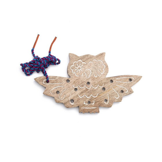 Wood Owl Lacing Toy - Matr Boomie