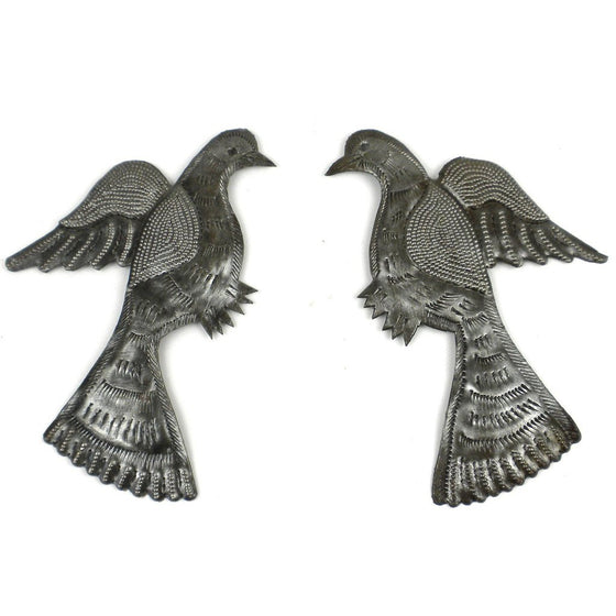 Pair of Birds Metal Wall Art - Croix des Bouquets