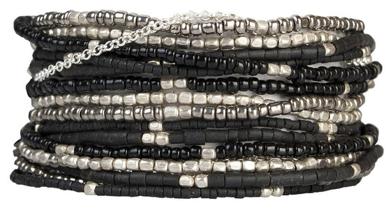 Wrap Bracelet: Lauren Midnight - Marquet (J)