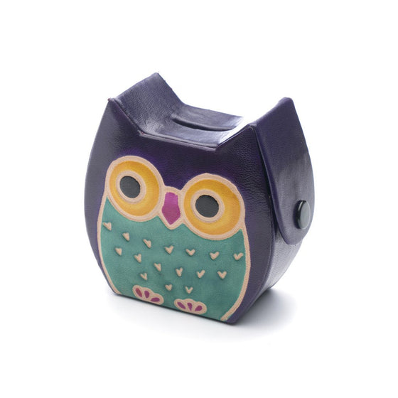 Leather Owl Coin Bank - Matr Boomie