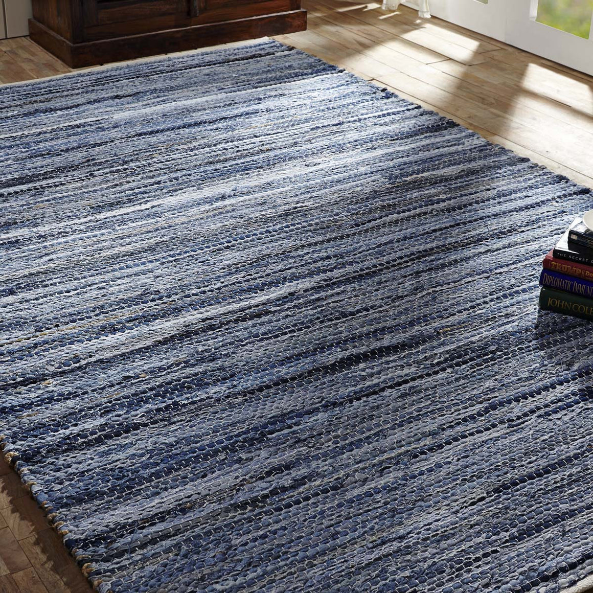 Denim & Hemp Chindi/Rag Rectangle Rug