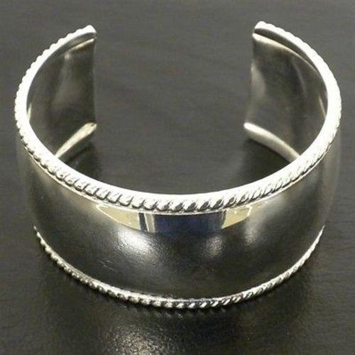 Silver Overlay Cuff  Smooth Design Handmade and Fair Trade