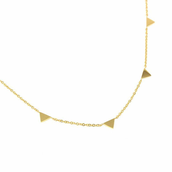Necklace: 14k Gold Plated Triangle Pendants with Chain - Starfish Project