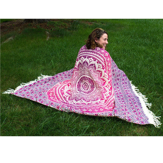 Mandala Throw Pink 50 by 70 inches - Mira (L)