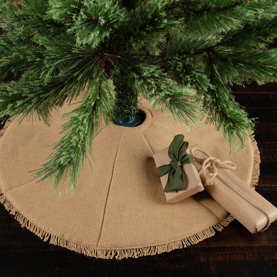 Festive Burlap Tree Skirt