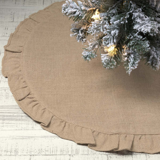 Jute Burlap Natural Tree Skirt