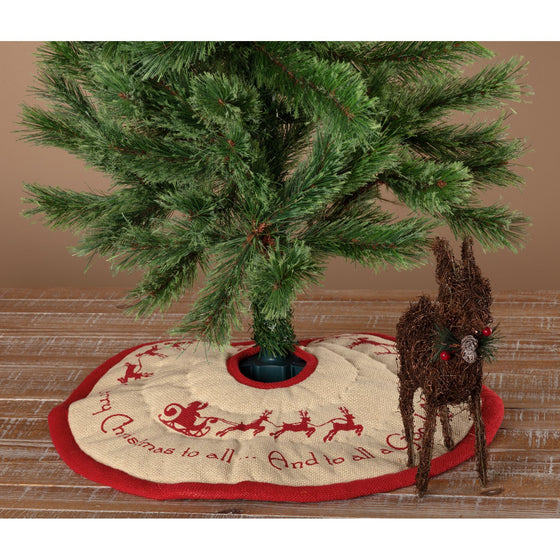 Burlap Santa Tree Skirt