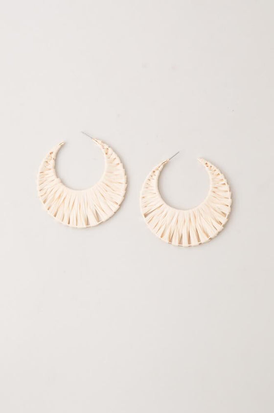 Jo Anna - Straw Wrap Hoop Earrings - Starfish Project