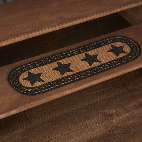 Farmhouse Jute Stair Tread Stencil Stars Latex