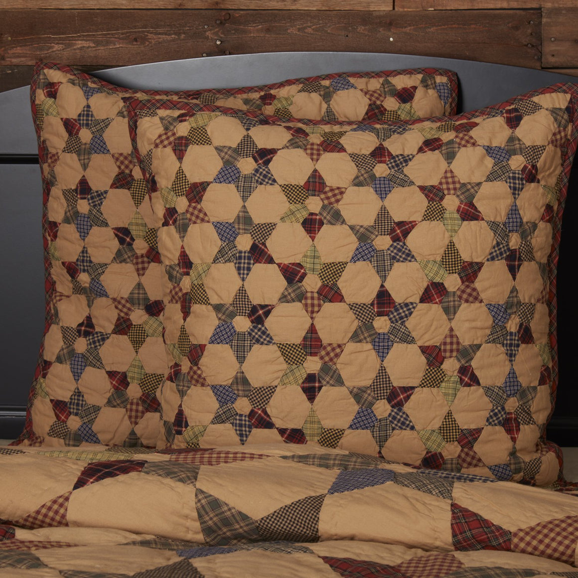 Tea Star Quilted Euro Sham 26x26