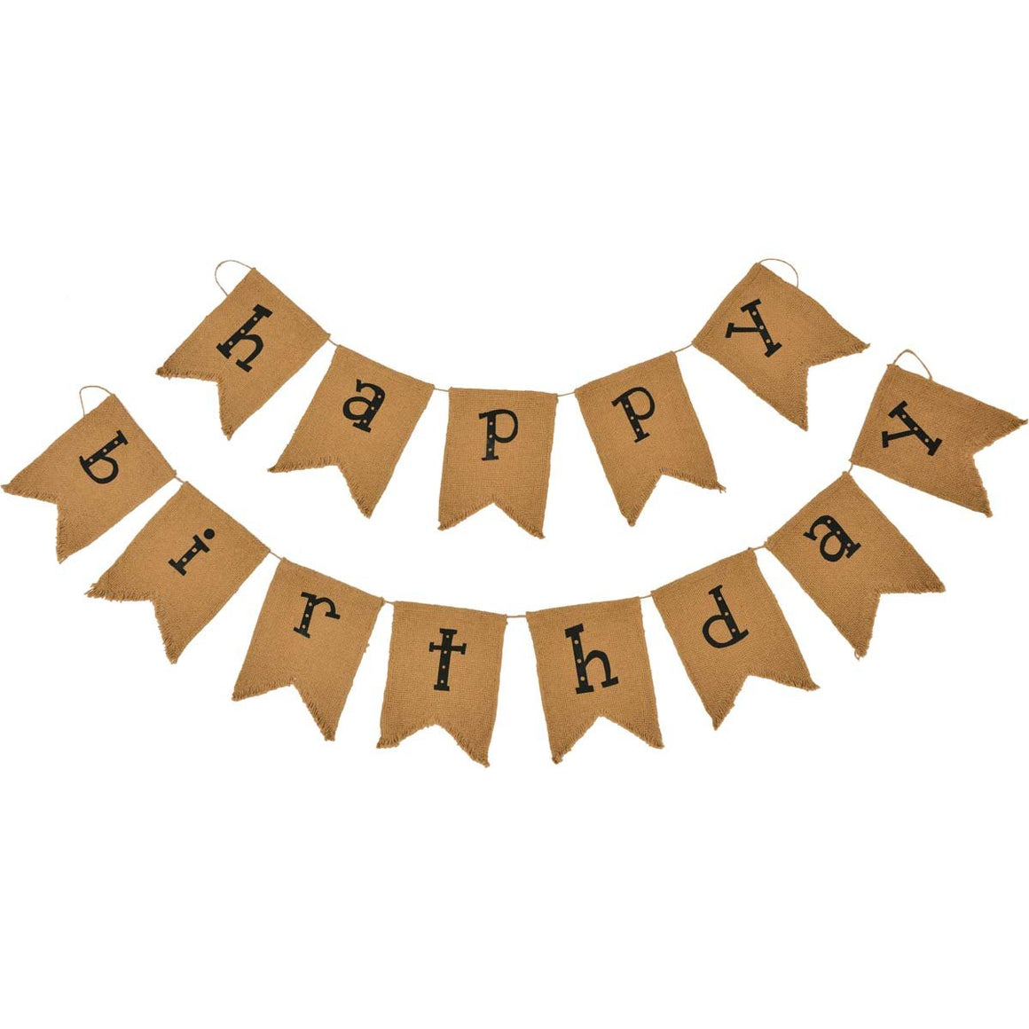 Happy Birthday Banner Black Lettering