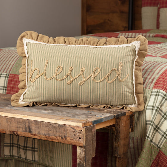Prairie Winds Blessed Pillow 14x22