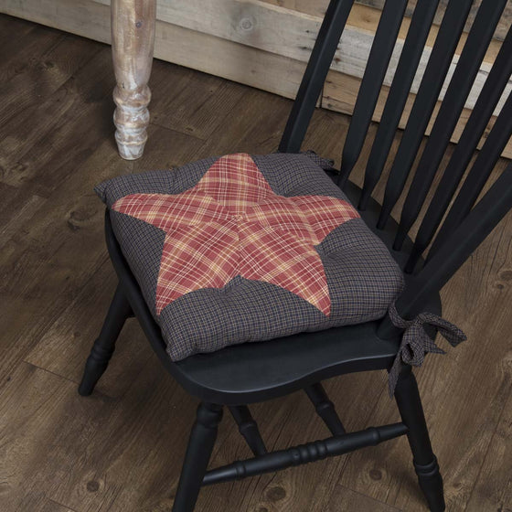 Arlington Chair Pad Patchwork Star