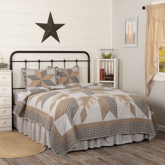 Dakota Star Farmhouse Blue Quilt Set