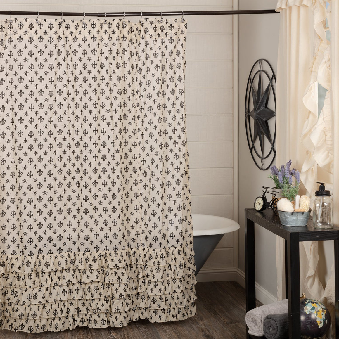 Elysee Ruffled Shower Curtain 72x72