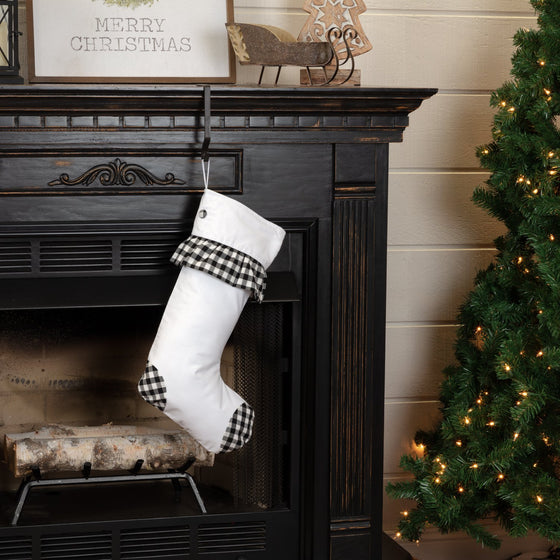 Emmie Check Ruffle Stocking