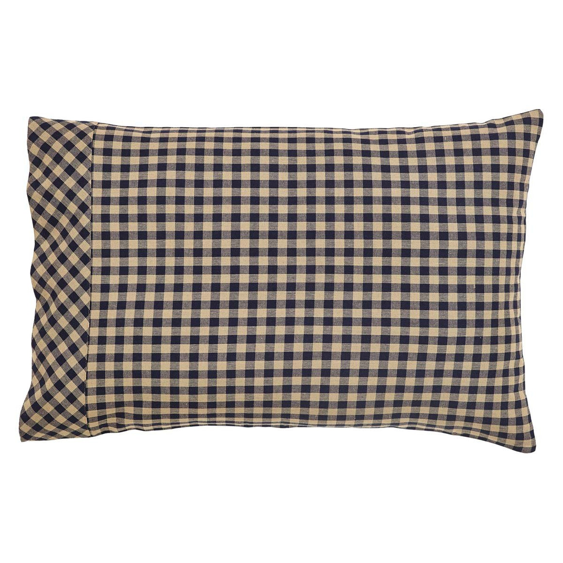 Navy Check Standard Pillow Case Set of 2 21x30
