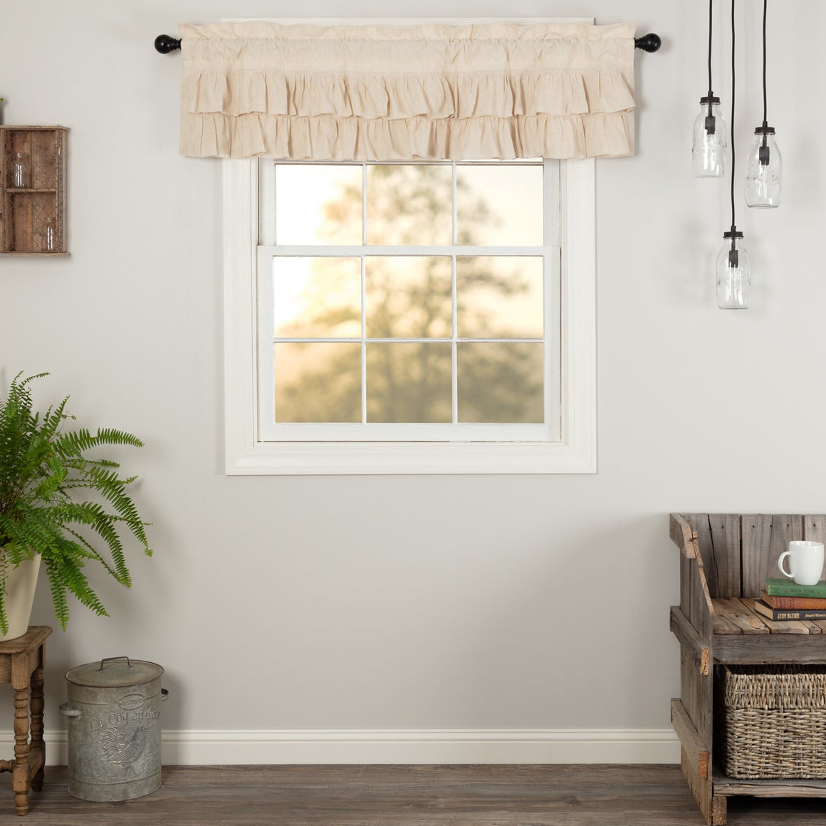 Simple Life Flax Ruffled Valance