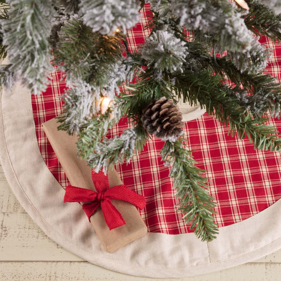 Red Plaid Tree Skirt