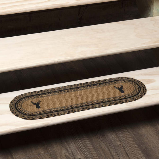 Trophy Mount Jute Stair Tread Oval Latex 8.5x27
