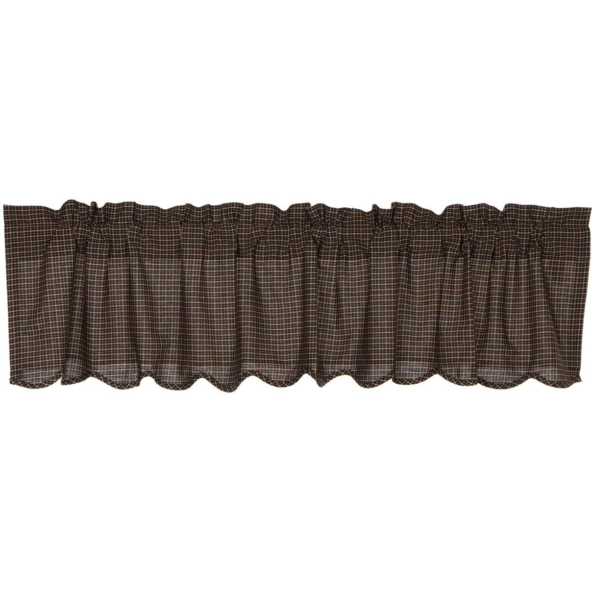 Kettle Grove Plaid Scalloped Valance