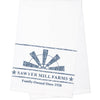 Sawyer Mill Blue Windmill Blade Muslin Bleached White Tea Towel 19x28