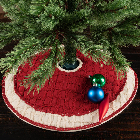 Chenille Christmas Tree Skirt