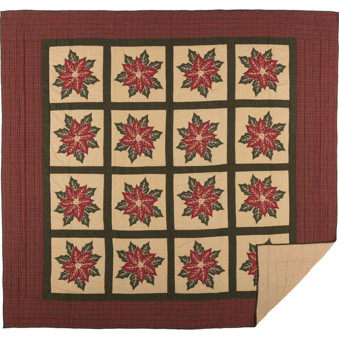 National Quilt Museum Poinsettia Block Quilt