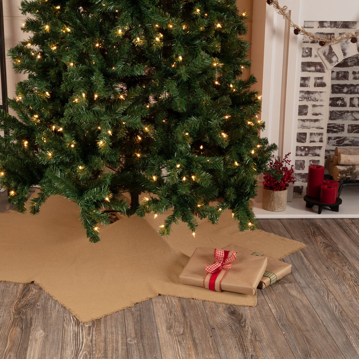 Burlap 8-Point Tree Skirt