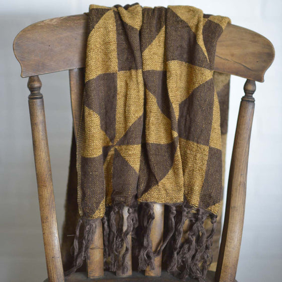 Kendrick Chenille Jacquard Woven Throw 60x50