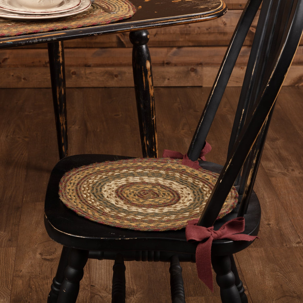Tea Cabin Jute Chair Pad Set of 6