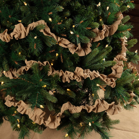 Festive Burlap Garland Set of 3 9ft