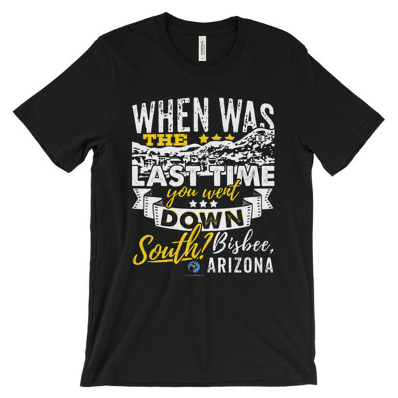 When was the last time you...... Unisex short sleeve t-shirt