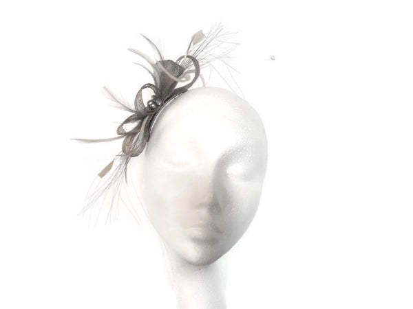 Beaded bow Fascinator