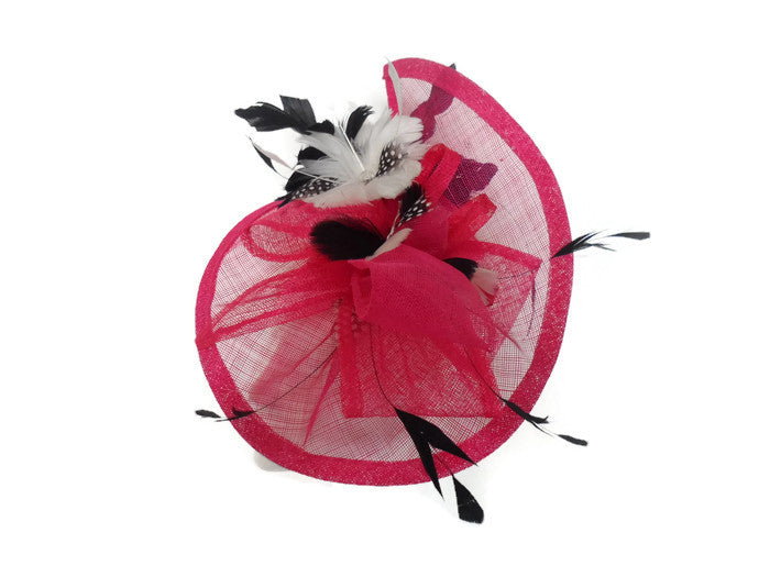 Floral polka dot Split fascinator